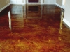 Saw Cut Acid Stained Living Room Concrete Floor
